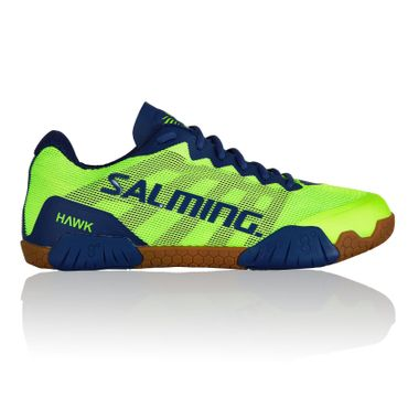 Salming Hawk Men Handballschuh FluoGreen / LimogesBlue – Bild 1