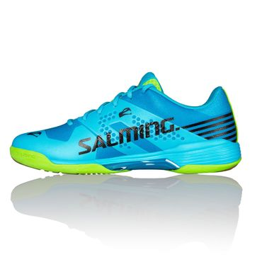 Salming Viper 5 Men Handballschuh Blue Atol / New Fluo Green – Bild 4